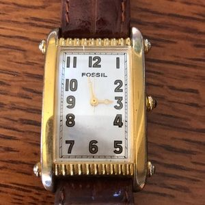 Vintage Fossil Art Deco Watch TM 6201